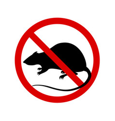 Warning sign no rats sign rats prohibition vector