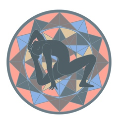 Yoga and mandala vector