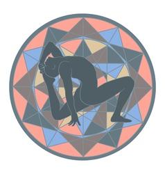 yoga and mandala vector image