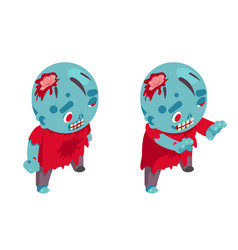 zombie isometric boy costume halloween children vector image