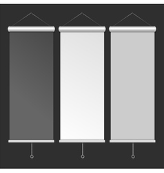 Blank Roll Up Banner Template vector image vector image