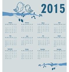 Calendar for year 2015 vector image