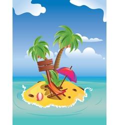 Cartoon Palm Island vector image vector image