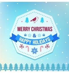 Christmas and winter holidays badge on vector