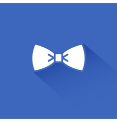 Flat long shadow bow tie icon vector image