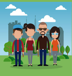people park city background vector image