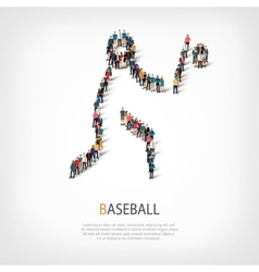 people sports baseball vector image