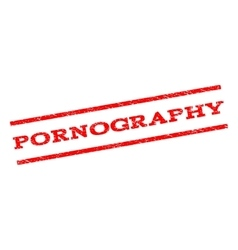 Pornography Watermark Stamp vector image vector image
