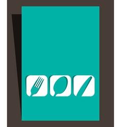 Restaurant menu design with cutlery symbols vector image
