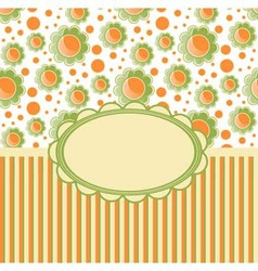 Retro design template with flovers vector image vector image