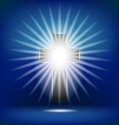 Shining Cross Isolated vector image