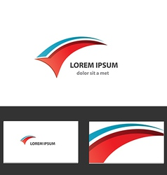 Abstract logo design template for business vector image