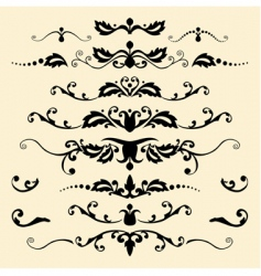 antique ornaments vector image vector image