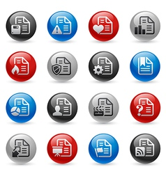 Documents icons vector image vector image
