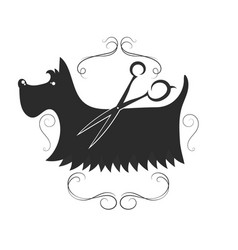 dog grooming design vector image