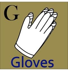 G letter alphabet Coloring book gloves vector image