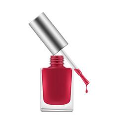 nail polish realistic vector image