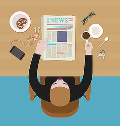 Office man having rest vector image