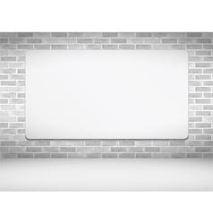Poster on Brick Wall vector image vector image