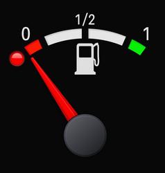 black fuel gauge scale empty tank vector image vector image