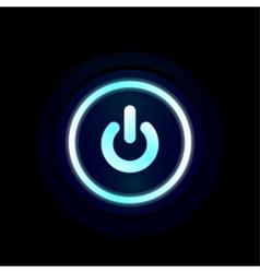 blue LED power button design vector image