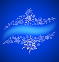 Christmas frame with drawn snowflakes lines vector image vector image
