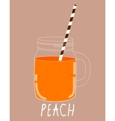 Fresh Peach Smoothie Healthy Food vector image vector image