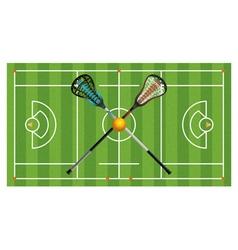 Lacrosse Field Equipment Aerial vector image vector image