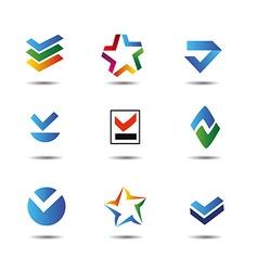 Logos set vector image vector image
