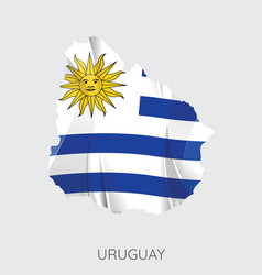 map of uruguay vector image