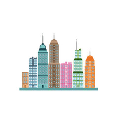 building skyscrapers cityscape modern image vector image