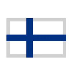 finland flag pixel art cartoon retro game style vector image vector image