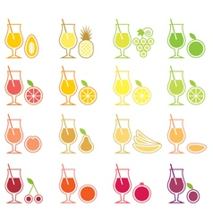 Fruit Juice Icon Set vector image