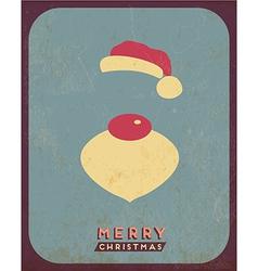 Retro Vintage Minimal Merry Christmas Background vector image vector image