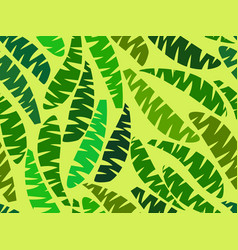 seamless palm leaves tropical jungle summer vector image