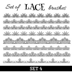 set of lace brushes vector image