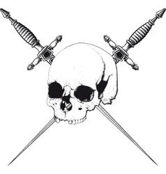 Skull and Dagger vector image