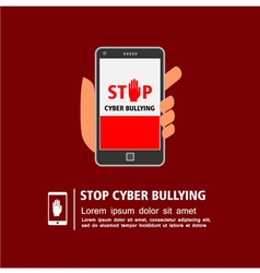Stop cyber bullying campaign vector image vector image