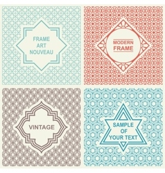 Vintage Set Templates Logo Labels and Badges vector image vector image