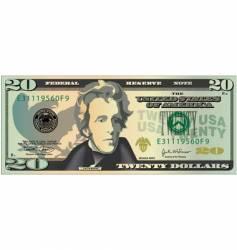 20 dollar bill vector image