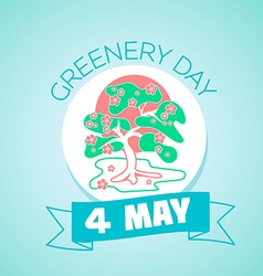 4 may greenery day vector