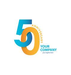 50 year anniversary template design vector