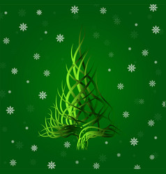 abstract christmas tree of wavy lines vector image