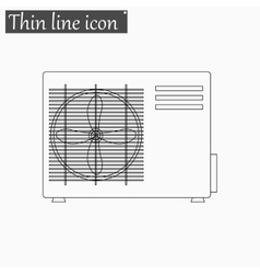 Air conditioner icon Style thin line vector image