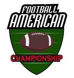 american football logos retro vector image