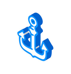 Anchor ship pirate isometric icon vector