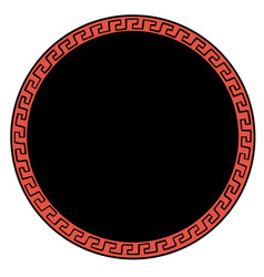 Ancient greek ornament round background vector