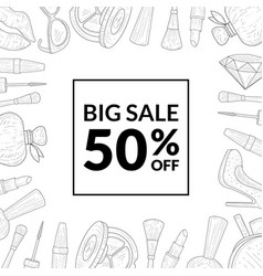 big sale special offer banner template sale with vector image