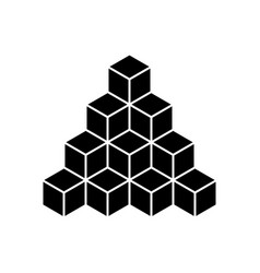 black pyramid of cubes flat vector image