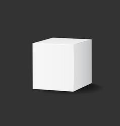 blank white carton 3d box icon box package mockup vector image